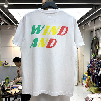 2020 WIND AND SEA T-shirt Men Women Colors Logo Print T-shirts Summer Streetwear Japan Style WIND AND SEA Tee Tops