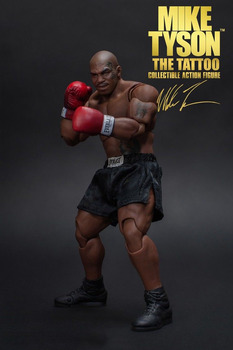 Do kolekcji 1/12 Scale MIKE TYSON Tattoo Version with Three Heads Sculpts World Heavyweight Champion Figure Model for Fans