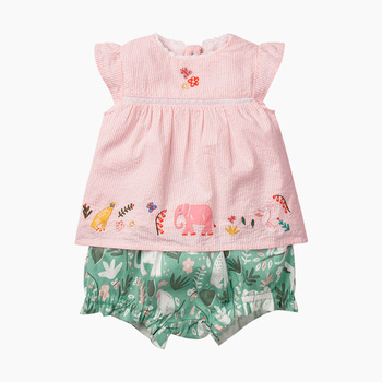Little maven 2020 Girl Suits Elephant Animal Cotton Baby Girls Clothing Sets For Summer Children Outfits Suits 1szt koszulka +spodnie