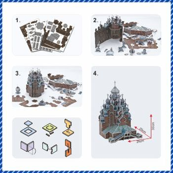 Nowy model 3D Puzzle Educator 3D puzzle Buliding model Kizhi church Poland DIY model