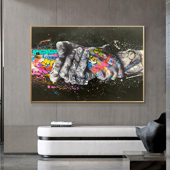 Pop Street Graffiti Art Canvas Painting Lover Hands Wall Art plakaty reprodukcje ścienne obrazy do salonu Home Cuadros Decor