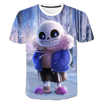 Undertale Cute Fun Fight Print 3D T-shirt Boy Girls popularna gra Tshirt Boys Cool Summer Short Sleeve T shirt Punk Tee Clothes