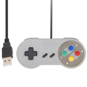 ViGRAND 10pcs Highquality Retro USB Controller Retro Super for Nintendo SNES USB Controller for PC for MAC Controllers
